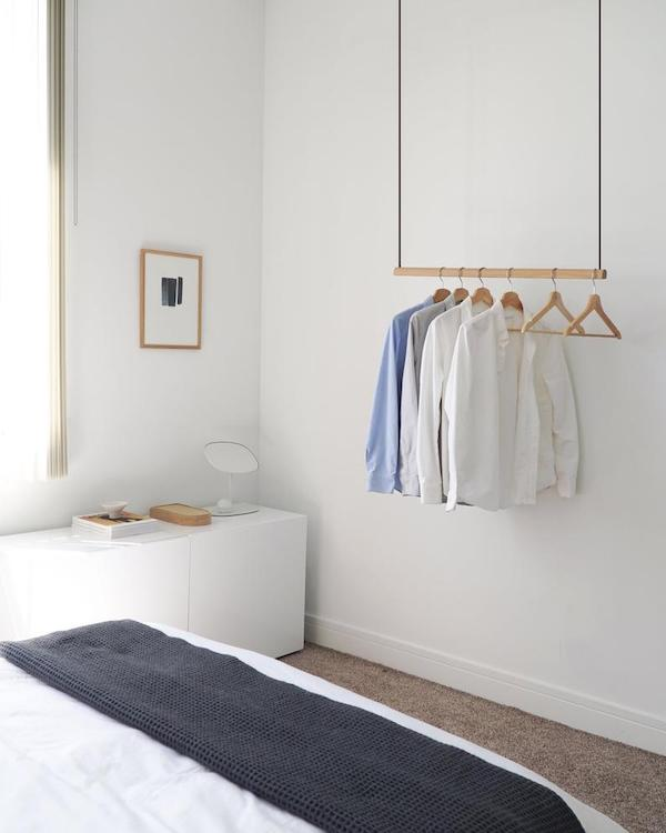 Ceiling Mounted Hanging Clothes Rack