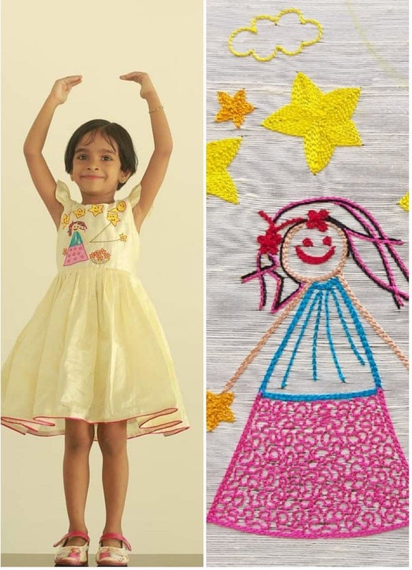Girls Twinkle Twinkle Little Star Come and Play with Me Party Dress