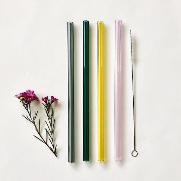 Reusable Glass Drinking Straws