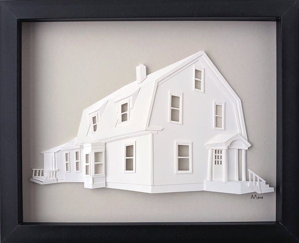 Custom three dimensional architectural portraits realtor closing housewarming gift