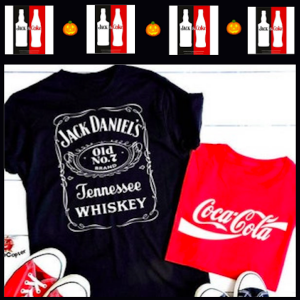 Jack Daniels and Coca Cola Last Minute Couples Halloween Costumes