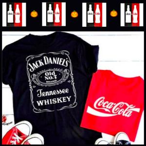 Jack Daniels and Coca Cola Last Minute Couples Halloween Costumes