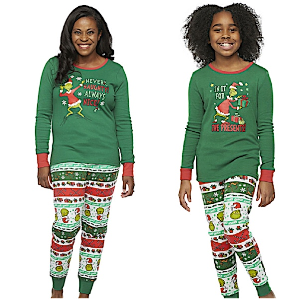 Dr Seuss Grinch Holiday Mother Daughter Pajama