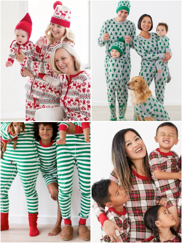 Hannah Andersson Mommy and Me Holiday Family Pajamas