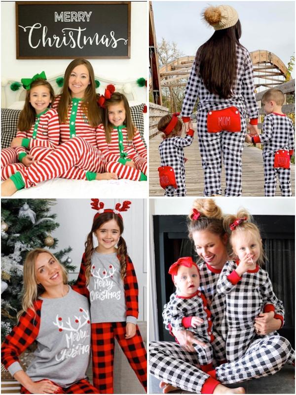 Mother Daughter Christmas Matching Pajamas