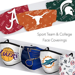 Sport Team and College Face Coverings Instagram