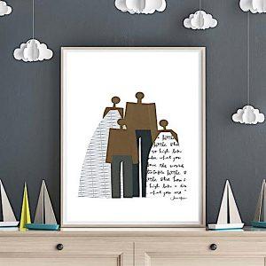 Printable Last Minute Minimalist Family Portrait