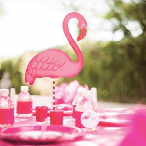 pink flamingo glamingo tabletop figure