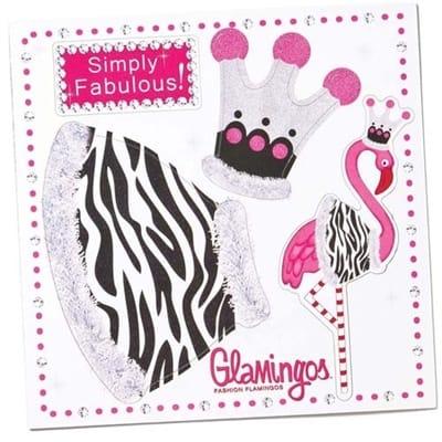 pink flamingo magnet tabletop diva costume
